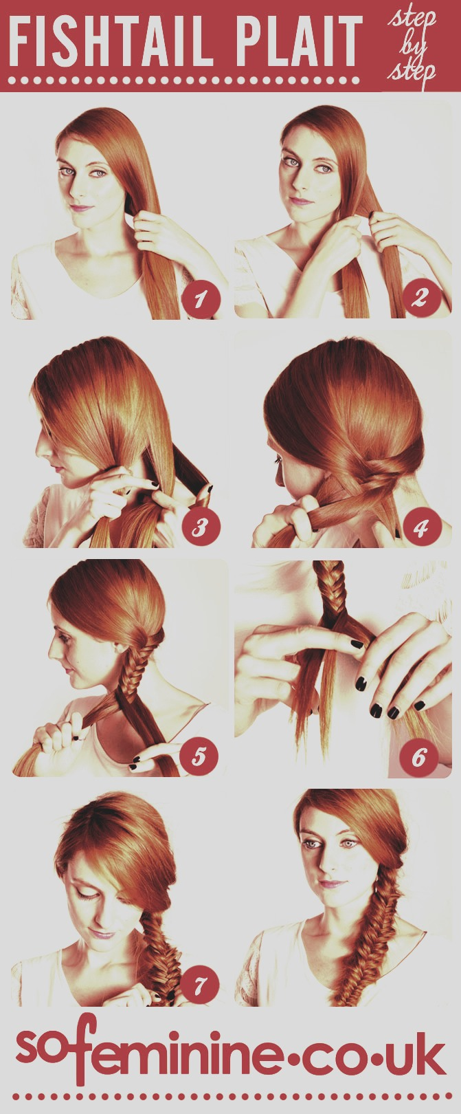 Easy way to do a fishtail braid!