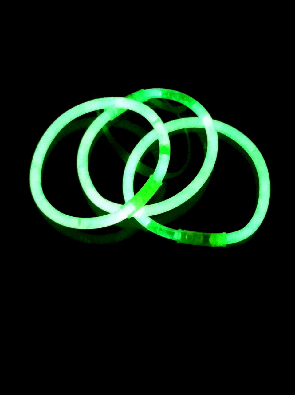 It's better when you keep glow sticks in storage for a long time because then they're brighter when you snap them and use them