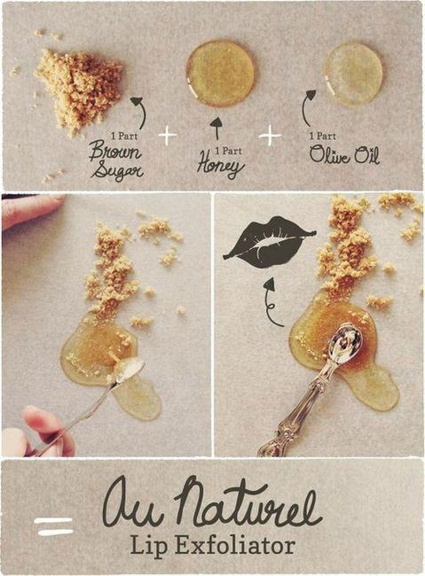 4. Make your own lip scrub that's edible and inexpensive!