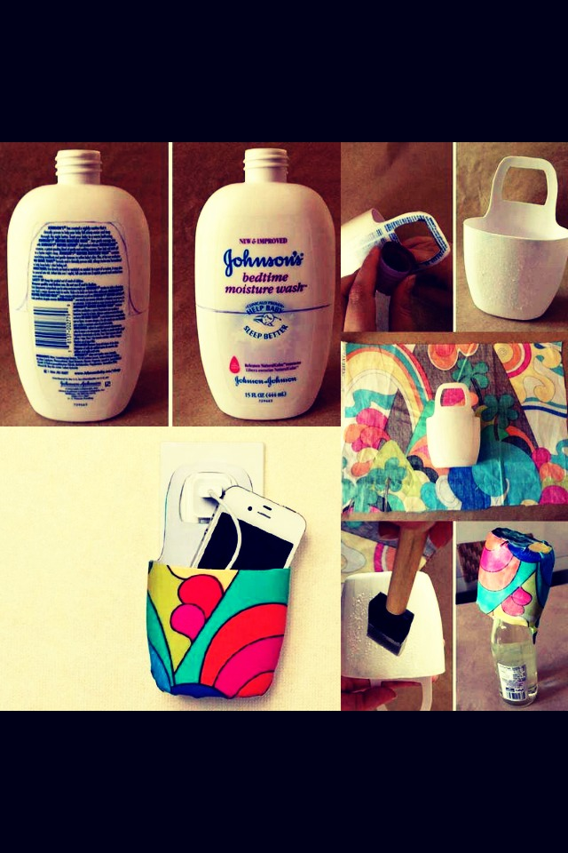 Don't let your phone get stepped on or misplaced anymore! Morph your old shampoo bottle into a new cellphone holder!