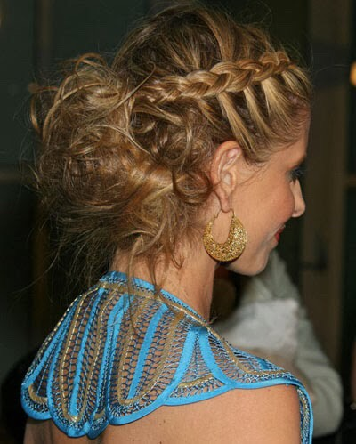 Make your braid stand out by weaving the sections under, not over one another
