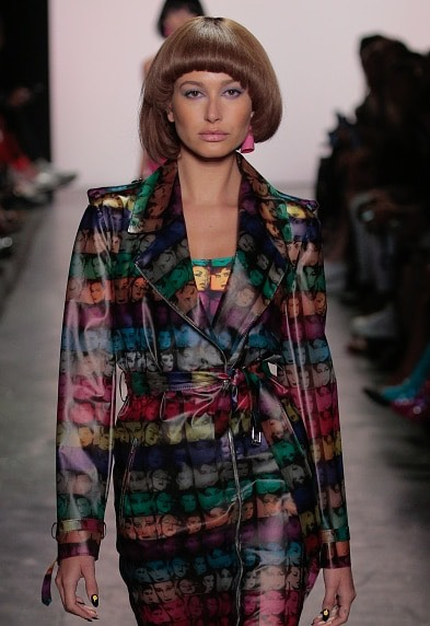 9. Jeremy Scott  These sleek, pin-straight bobs were all the rage at the Jeremy Scott show. Hailey Baldwindefinitelypulls off this look.