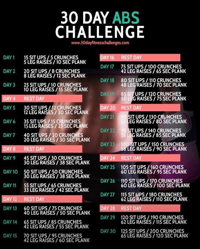 30 days fat burn challenge