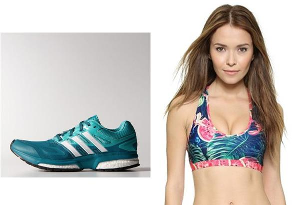 Adidas Response Boost Techfit Shoes, $69.99 at Adidas  We Are Handsome Jungle Heat Racer Sports Bra, $88 at Shopbop