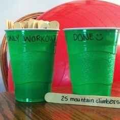 Use Popsicle sticks as motivation to work out