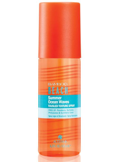 Sun-Blocking Beach Hair Spray Did you know your hair needs protection from the sun, too? This spray not only gives you beachy waves, it also contains ingredients that block UV rays that can seriously dry out your strands.