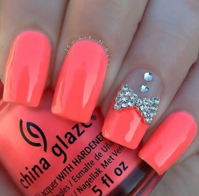 21. BRIGHT CORAL WITH SILVER IS PERFECT