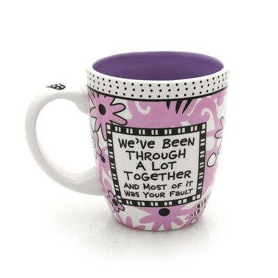 Mug  *you can make or buy this *you can put a picture of you guys on it along with a cute saying or quote if you want.