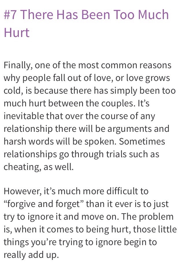 reasons for falling out of love