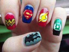 Musely super hero inspired nails d prinsesfo Gallery