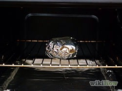 5) Bake in preheated 400 degree oven about 45 minutes or until potatoes are soft when squeezed.
