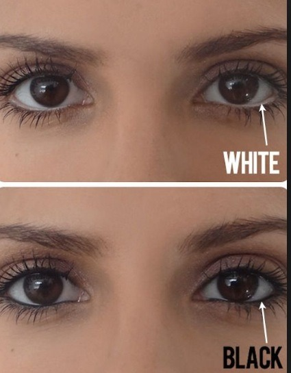 To make your eyes pop add white to your water line!