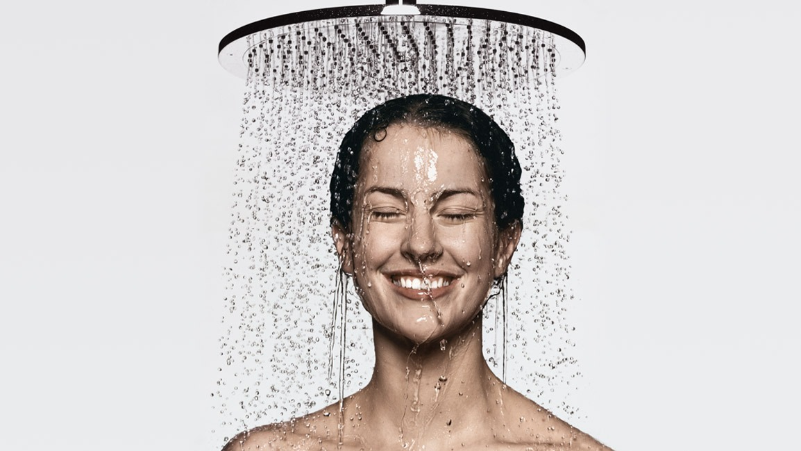 First step: Take a shower! Once you take a shower wait until your hair is damp! Not wet, but damp.