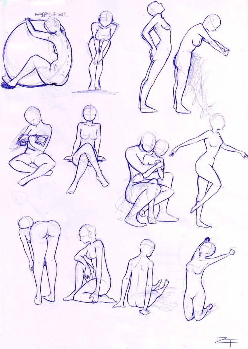 Позы человека рисование картинки 3