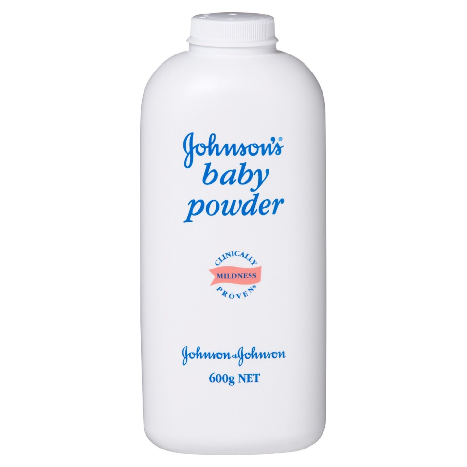 Rub baby power on your inner thigh .