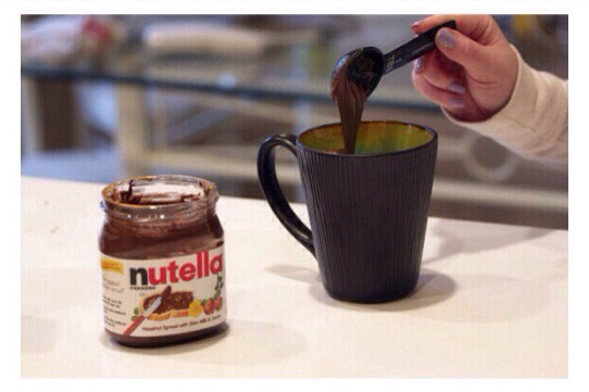 As much Nutella as you want. I used half a tablespoon