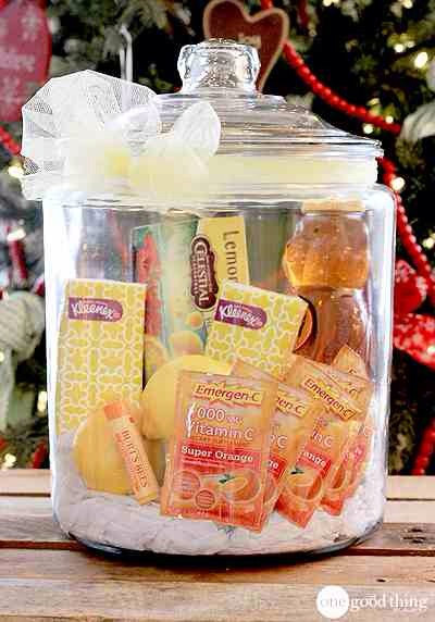 """T.L.C. In A Jar  It never fails that someone in our house is sick over Christmas. Germs are running rampant, we are all stuck indoors, and stress levels are through the roof. Perfect storm for a """"bug"""" to strike. This jar would be a welcome gift for anyone feeling under the weather."""