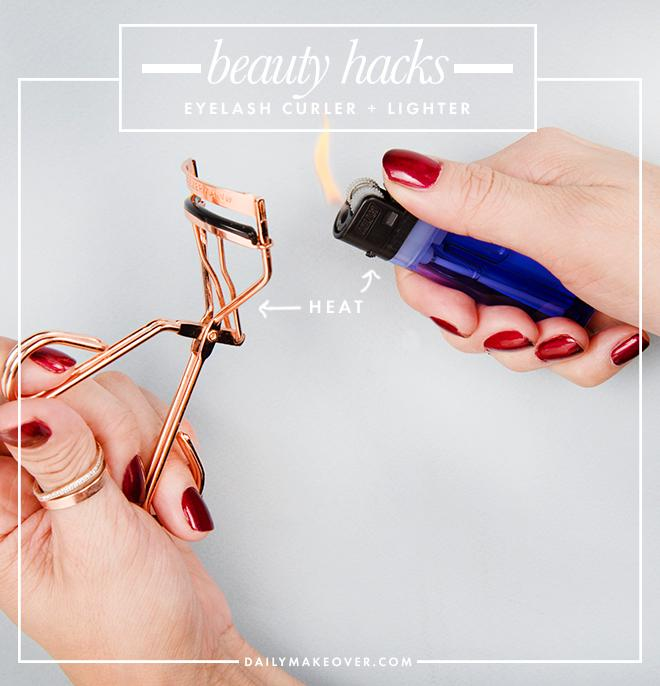7. Use a lighter to heat up your eyelash curler before using for a more intense curl.