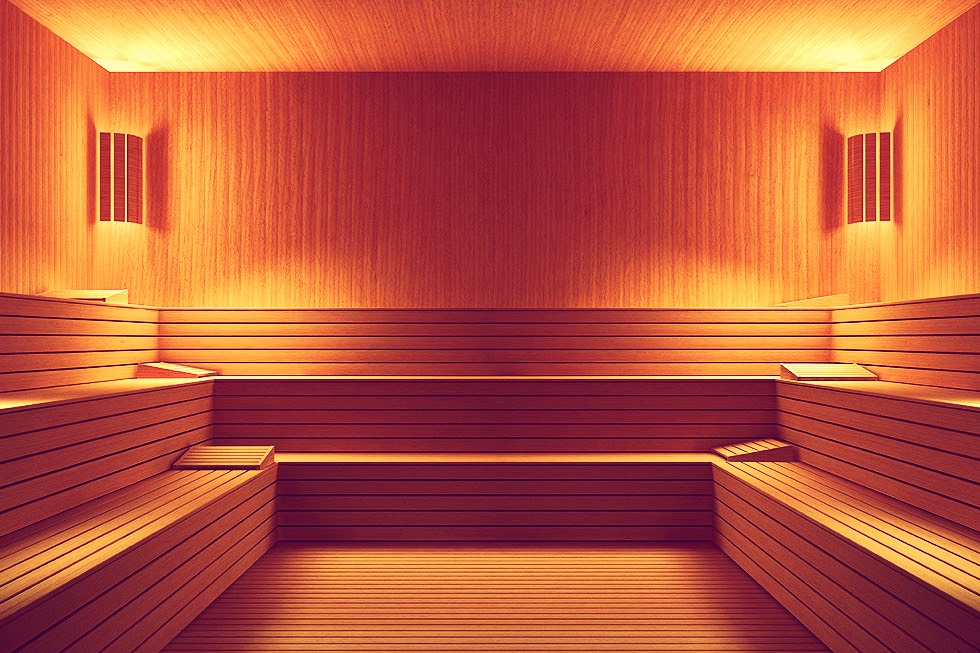 If possible. Spend 2 sessions a day in a sauna or one in sauna one in steam rooms! A session in there is 15-17 minutes depending on the tempature of it. Be sure to bring water in with you though to avoid dehydration!