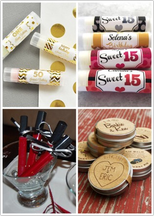 Lipgloss and Lip balms will no doubt be a well received party favor