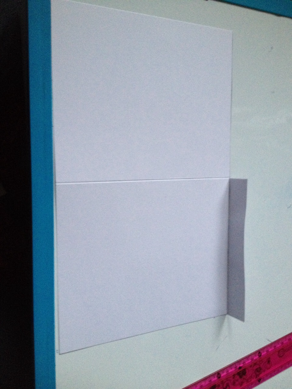 Make another 2cm line on the other side and fold it down
