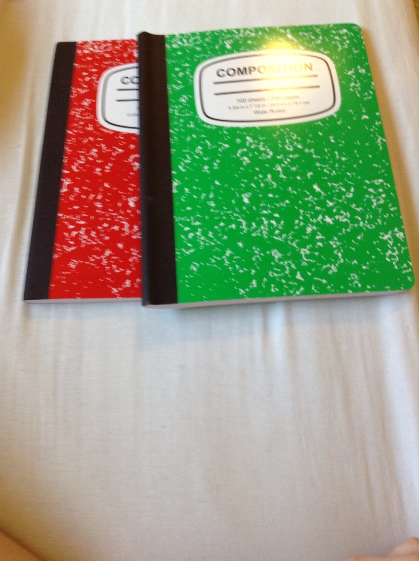 Two composition notebooks