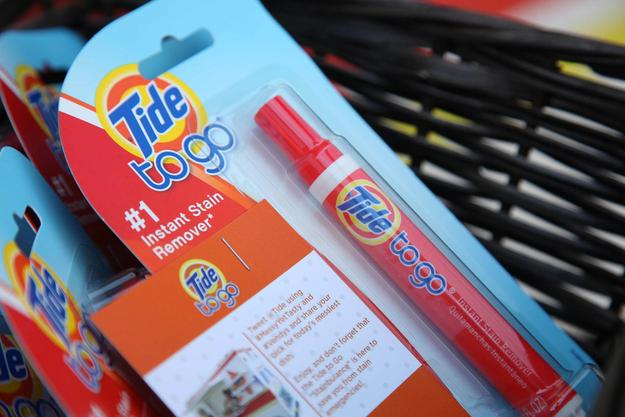 And there are always those times where you stain your favorite shirt or jeans: use Tide to go!