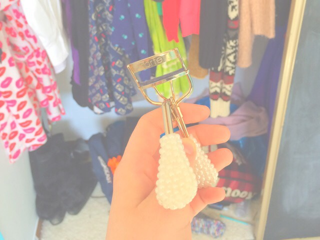 """okay so basically one day I was getting ready to leave the house and my mom was like """"The least you can do is curl your eyelashes..."""" And I was like wow thanks mom words of wisdom! So now I never leave the house without at least curling my eyelashes! This Tarte eyelash curler is my fav!"""