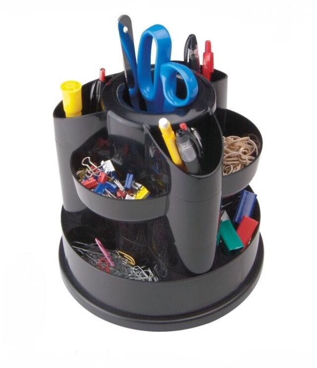 10 Compartment Rotating Desk Organizer, $12.33, staples.com