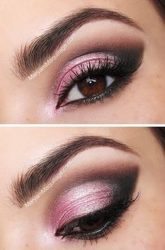 2) Or for something more bold, smoke out the outer v with a matte black or dark brown and blend it into the crease