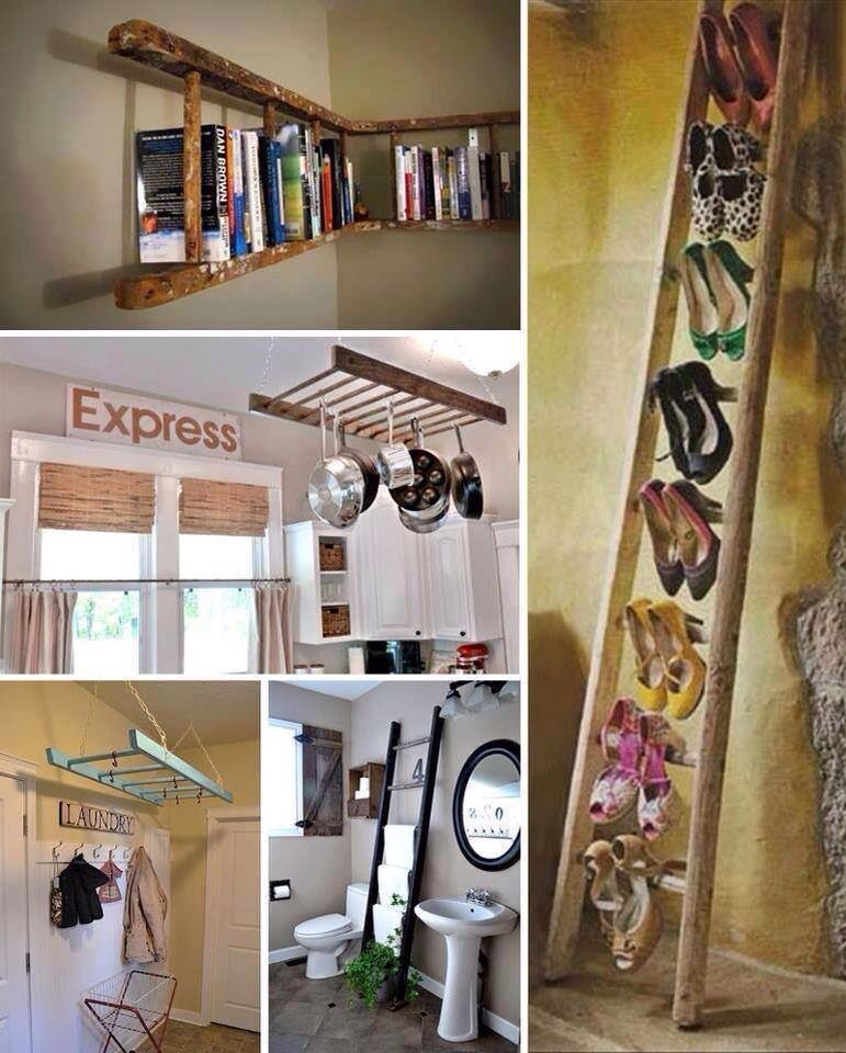 Reuse old ladders for all kinds of things