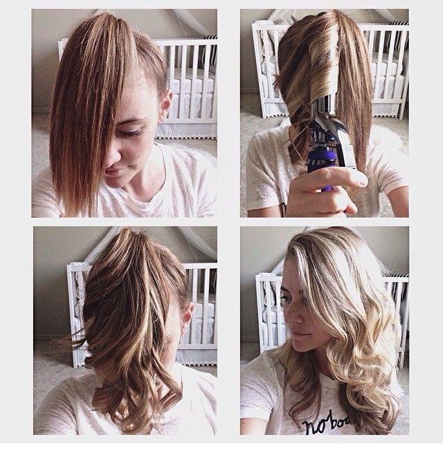 Укладка локоны на средние волосы в домашних