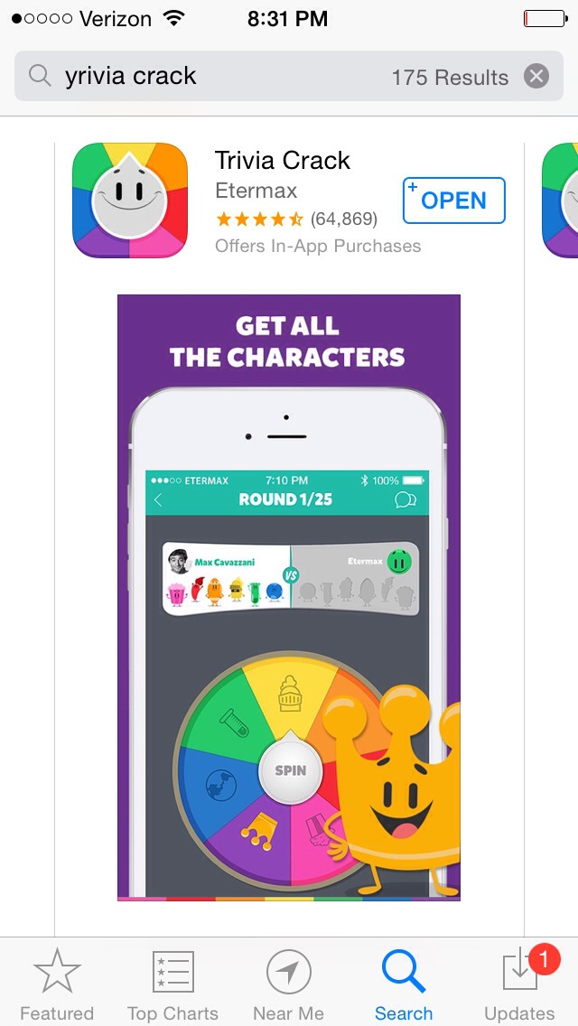 Trivia crack is like trivia pursuit but more updated and for kids