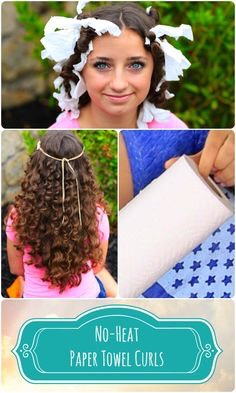 How to do paper towel curls