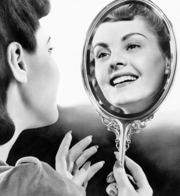 Smile at yourself in the mirror before you head out the door, because, remember, to love you must love yourself first!
