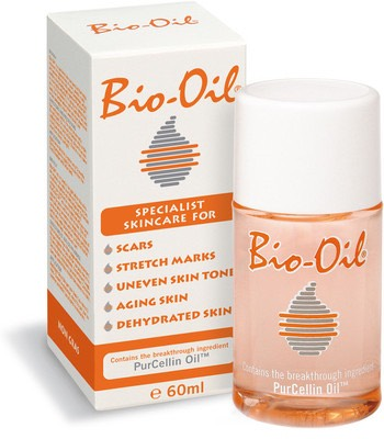To reduce redness, scarring, ageing and sun damage rub bio oil onto skin at night