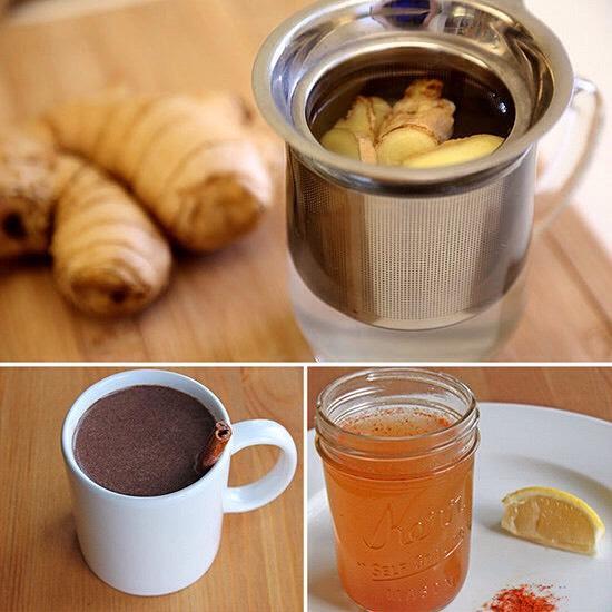 9) warm drinks