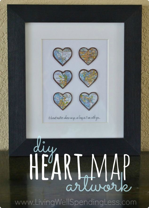 Heart map art work