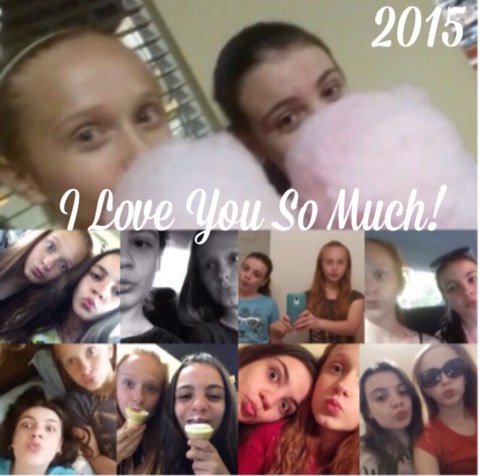 I made a small collage of me and my bestie she moves July 1st 2015. 😑