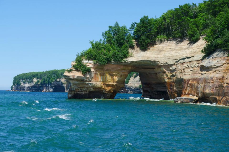 The Great Lakes— as the largest of the Great Lakes, Lake Superior features a rocky north shore made of ancient granites. By surface area, it is the largest freshwater lake in the world.
