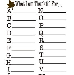 Great activity in preparation for as well as during Thanksgiving. Try to see if you or your child can come up with the whole alphabet!