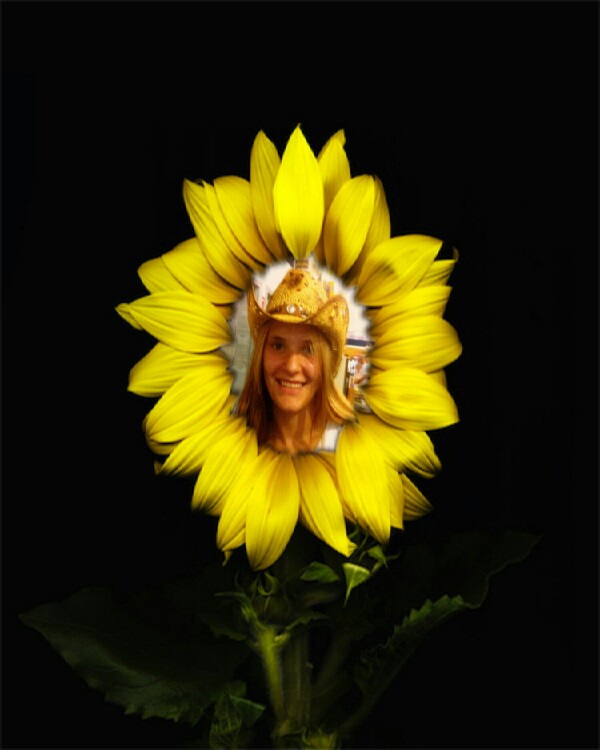 This is me with blonde hair. Yes, I did put me in a dandelion.  No judging,  ha.