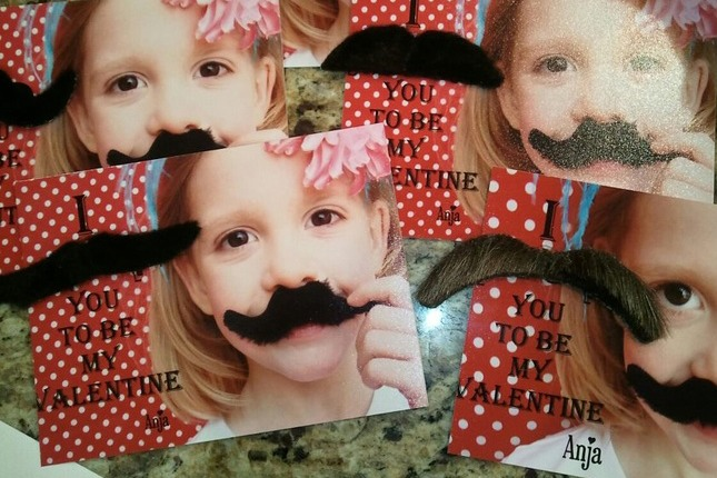 I Mustache you to be my Valentine: It is 2014 and we are still cracking up over mustaches! This Valentine's Day card is a winner. Have your little one pose for a photo and combine it with silly mustaches from your local party store.