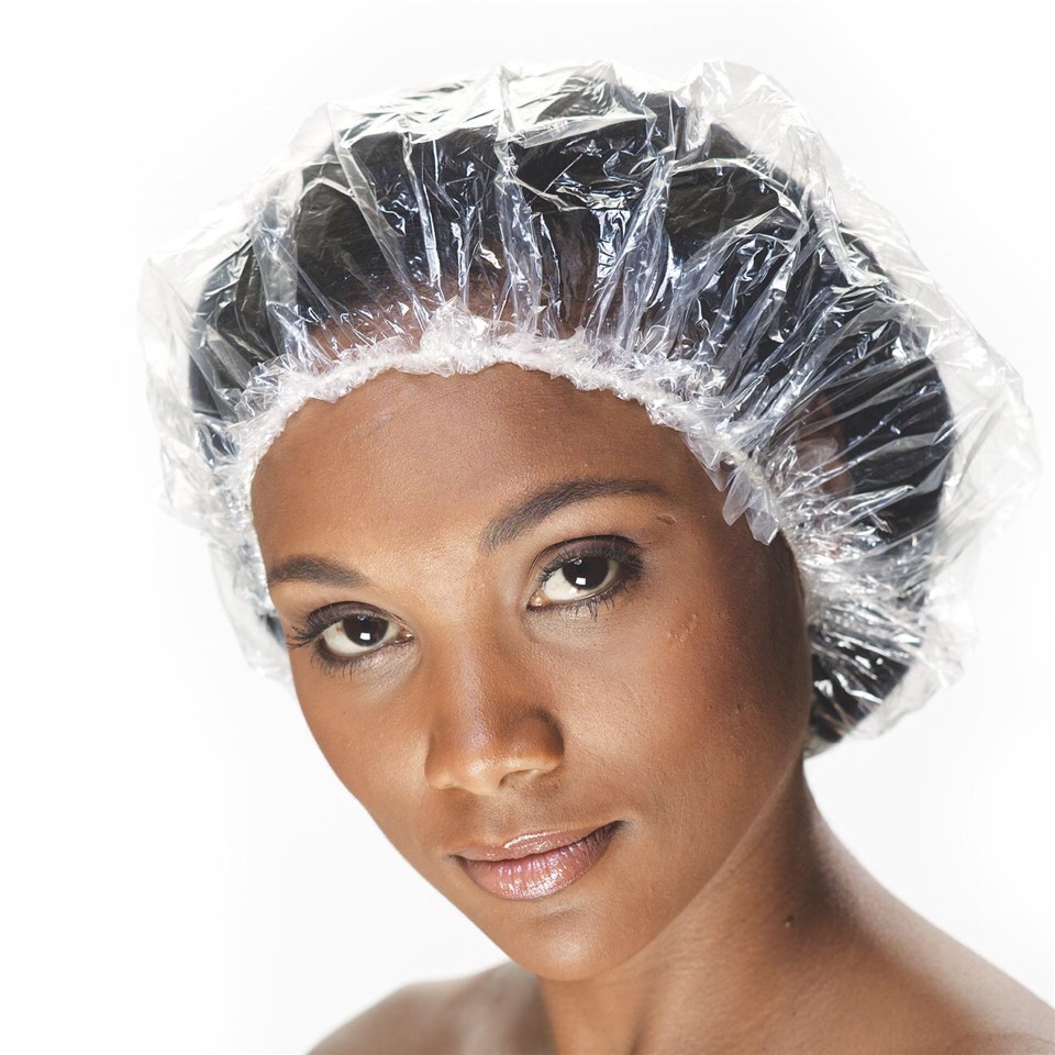 #5⃣. Use a shower cap for bed. Once you've applied everything to your hair. Place a shower cap over your hair before bed to keep your curls from looking frizzy and to keep your curls looking healthy and fresh in the morning.