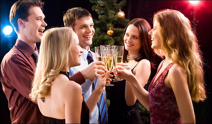 A little party can be fun, make sure its formal and sophisticated, you dont want to get tipsy and blow it! So have a romantic evening and get to know each other