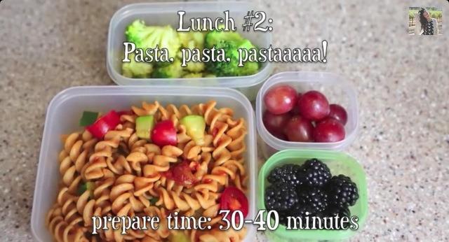 Pasta , pasta .. PASTA !!!!  You need :  🍜 Pasta  🍷 Pasta sauce  🍅 Baby tomato and zoukini (optimal)