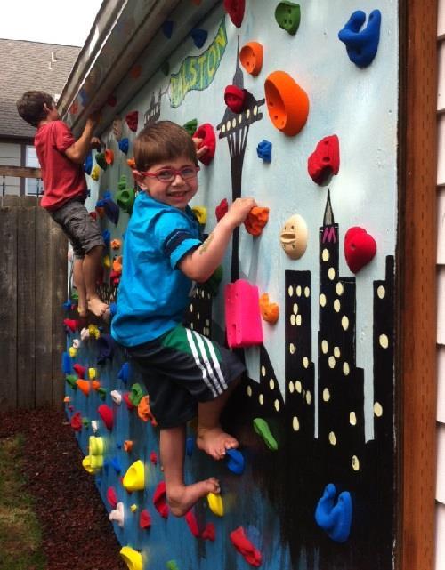 diy rock climbing wall for kids