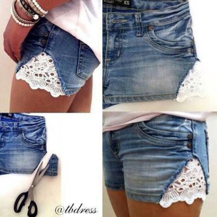 You can use any fabric type for this but I think the lace looks really cute.