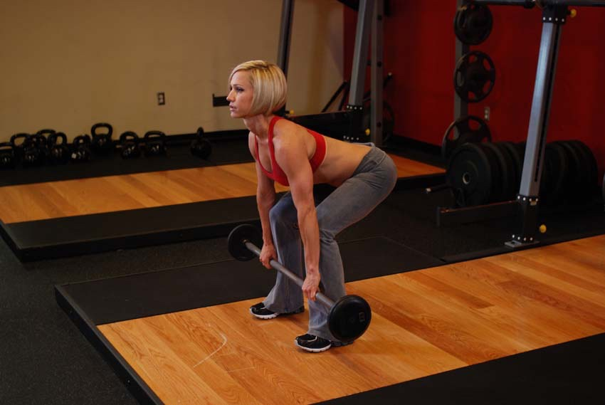 Do 30 Romanian deadlifts with 10-15 pound dumbells in each hand