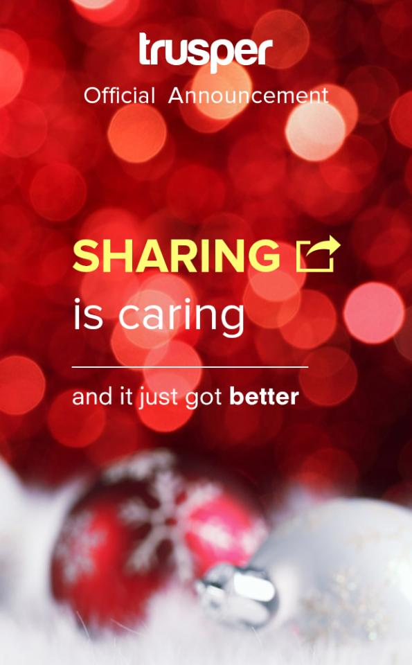 Tis the season to share with others and Trusper is sharing with you!
